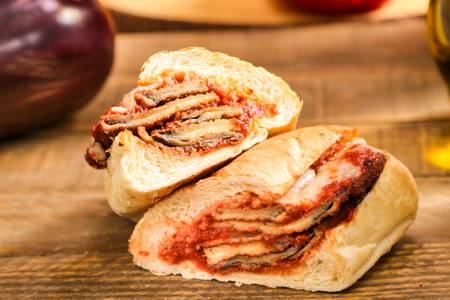 Eggplant Parmigiana Sandwich (Lunch) from Ameci Pizza & Pasta - Lake Forest in Lake Forest, CA