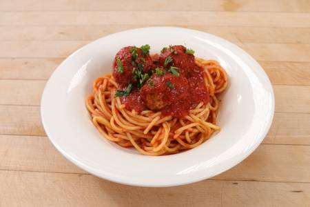 Spaghetti with Meatballs or Sausage (Lunch) from Ameci Pizza & Pasta - Lake Forest in Lake Forest, CA