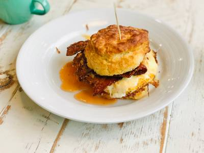 Honey Bacon Biscuit from Ancora Coffee - King St in Madison, WI