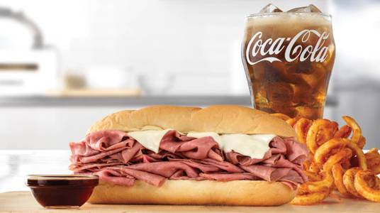 Half Pound French Dip & Swiss Meal from Arby's - De Pere Lawrence Dr (7164) in De Pere, WI