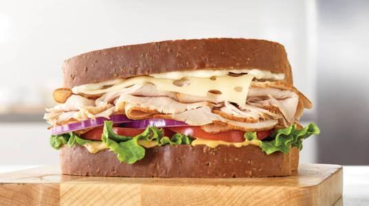 Roast Turkey & Swiss Sandwich from Arby's - De Pere Lawrence Dr (7164) in De Pere, WI