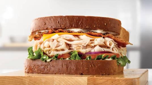 Roast Turkey Ranch & Bacon Sandwich from Arby's - De Pere Lawrence Dr (7164) in De Pere, WI