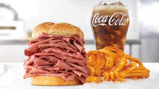 Half Pound Roast Beef Meal from Arby's - 8591 in De Pere, WI