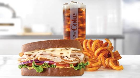 Roast Turkey & Swiss Sandwich Meal from Arby's - 8591 in De Pere, WI