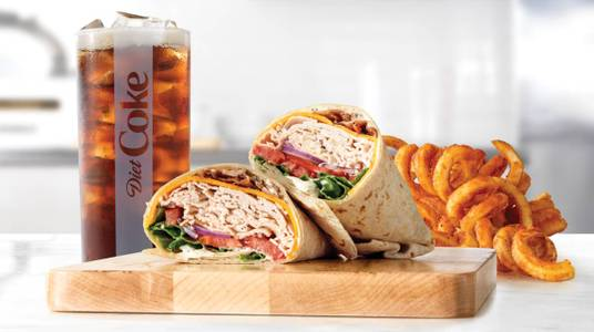 Roast Turkey Ranch & Bacon Wrap Meal from Arby's - 8591 in De Pere, WI