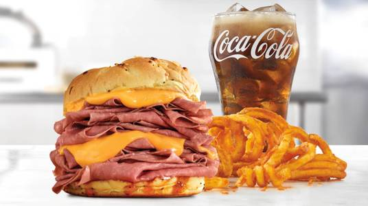 Half Pound Beef 'n Cheddar Meal from Arby's - Eau Claire Hendrickson Dr (1958) in Eau Claire, WI