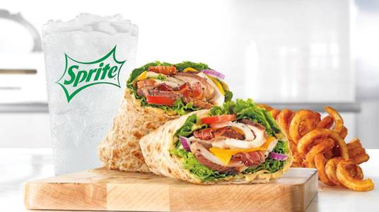 Market Fresh Chicken Club Wrap Meal from Arby's -  Green Bay Cedar Hedge Ln (6888) in Green Bay, WI
