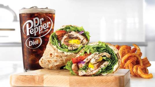 Market Fresh Creamy Mediterranean Chicken Wrap Meal from Arby's -  Green Bay Cedar Hedge Ln (6888) in Green Bay, WI