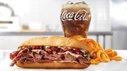 Fire-Roasted Philly Roast Beef Meal from Arby's - 6888 in Green Bay, WI