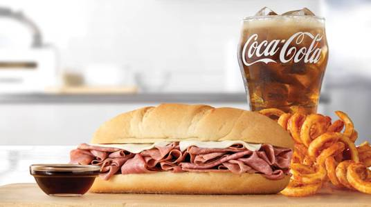Classic French Dip & Swiss Meal from Arby's - New Franken Algoma Rd (6627) in New Franken, WI