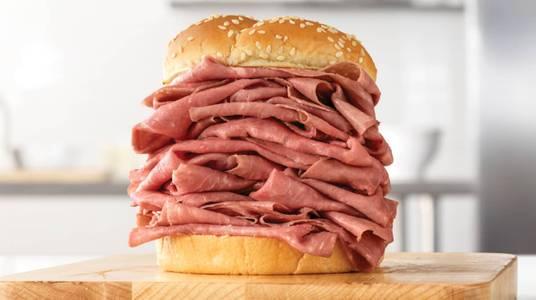 Half Pound Roast Beef from Arby's - Kaukauna Delanglade St (7153) in Kaukauna, WI