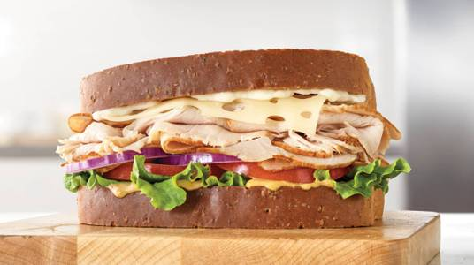 Roast Turkey & Swiss Sandwich from Arby's - Kaukauna Delanglade St (7153) in Kaukauna, WI
