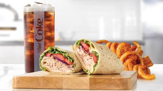 Roast Turkey & Swiss Wrap Meal from Arby's - Kaukauna Delanglade St (7153) in Kaukauna, WI
