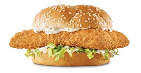 Crispy Fish Sandwich from Arby's - Dubuque Main St (6573) in Dubuque, IA