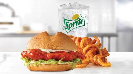 Buffalo Chicken Sandwich Meal from Arby's - 6627 in New Franken, WI