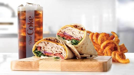 Roast Turkey Ranch & Bacon Wrap Meal from Arby's - 6627 in New Franken, WI