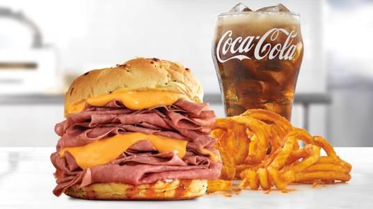 Half Pound Beef 'n Cheddar Meal from Arby's - Onalaska N Kinney Coulee Rd (8509) in Onalaska, WI