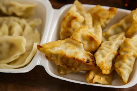 12. Fried Dumpling (8) from Asian Kitchen in Madison, WI