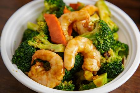 D6. Shrimp with Broccoli from Asian Kitchen in Madison, WI