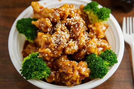 S6. Sesame Chicken from Asian Kitchen in Madison, WI