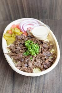 Beef Shawarma Bowl from Baba Dari Ann Arbor in Ann Arbor, MI