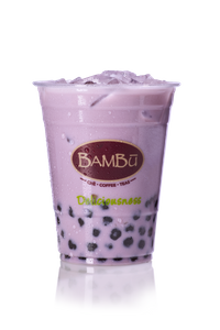 Iced Taro Milk Tea from Bambu in Madison, WI