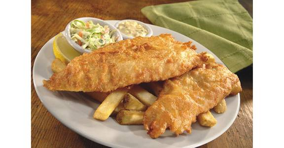 Finn's Beer Battered Fish & Chips from Bennigan's on the Fly in Dubuque, IA