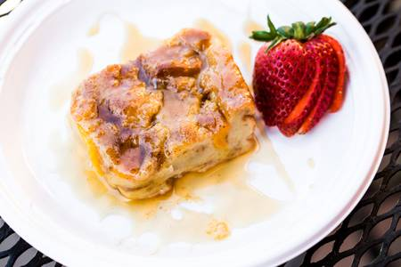 Peach Bread Pudding from Big Herm's Kitchen in Richmond, VA