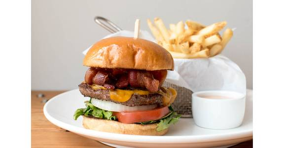 All American Burger from Bites Restaurant in Forest Grove, OR