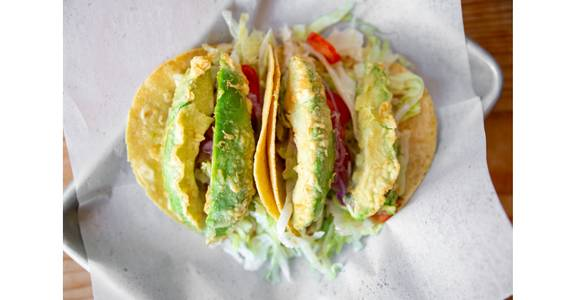 Fried Avocado Tacos from Bites Restaurant in Forest Grove, OR