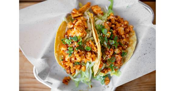 Korean BBQ Chicken Tacos from Bites Restaurant in Forest Grove, OR