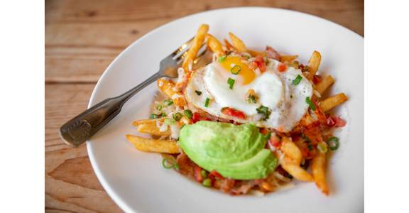 Loaded Breakfast Fries from Bites Restaurant in Forest Grove, OR