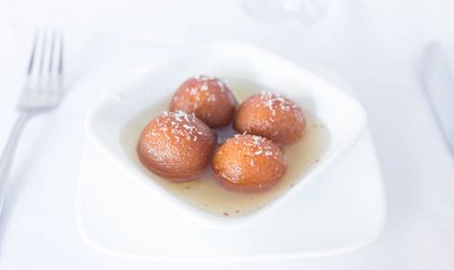 Gulab Jambun from Bollywood Grill in Milwaukee, WI