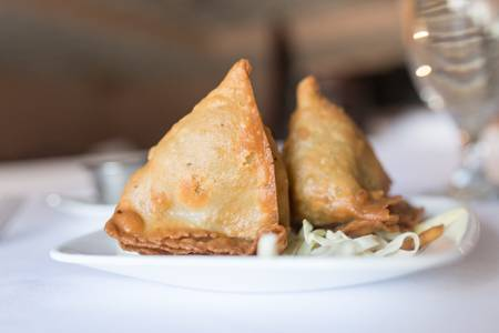 Samosa from Bollywood Grill in Milwaukee, WI