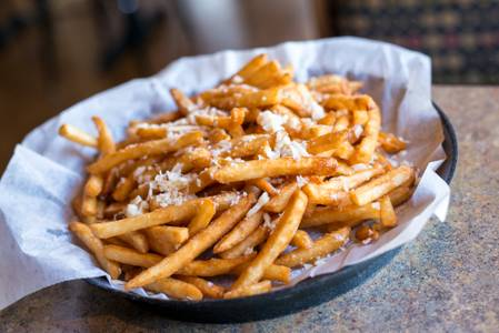 Garlic Parm Fries from Brickhouse Craft Burgers & Brews in De Pere, WI