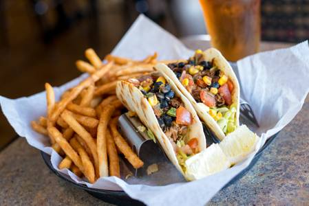 Pulled Pork Tacos from Brickhouse Craft Burgers & Brews in De Pere, WI