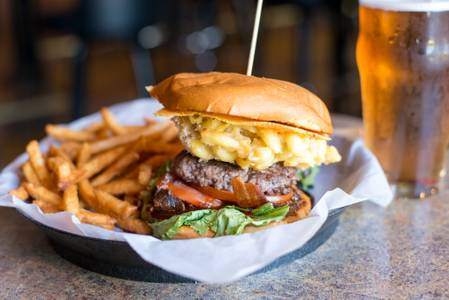 The Mac-n-Cheezy from Brickhouse Craft Burgers & Brews in De Pere, WI