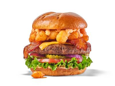 Cheese Curd Bacon Burger from Buffalo Wild Wings - Lawrence (522) in Lawrence, KS