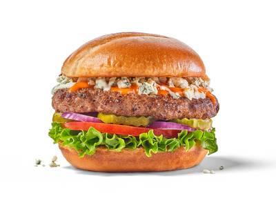 Buffalo Blue Burger from Buffalo Wild Wings - Oshkosh (156) in Oshkosh, WI