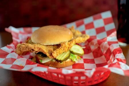 Pork Tenderloin Sandwich from Burgers by Biggs in Lawrence, KS