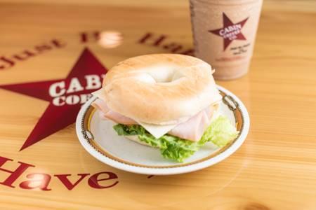 Turkey & Monterey Jack Sandwich from Cabin Coffee Co - Ames in Ames, IA