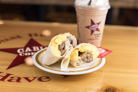 Breakfast Wrap from Cabin Coffee Co. in Altoona, WI