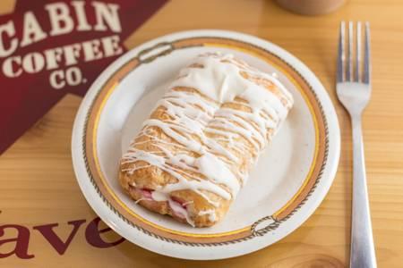 Raspberry Danish from Cabin Coffee Co. in Altoona, WI