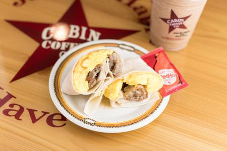Southwest Breakfast Wrap from Cabin Coffee Co. in Altoona, WI