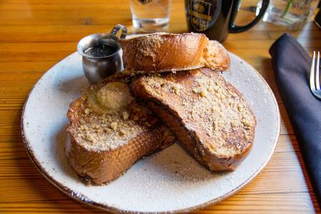 Cinnamon Streusel French Toast (Brunch) from Cafe Hollander - Madison in Madison, WI