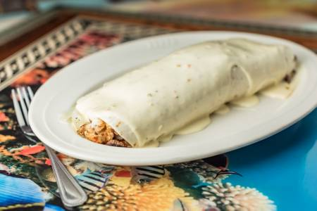 Burrito California from Casa Vallarta Mexican Restaurant in Eau Claire, WI
