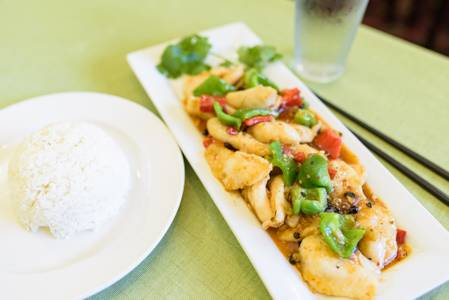 Slice Fish Stir-Fried with Peppers in Black Bean Sauce from Chia Shiang in Ann Arbor, MI