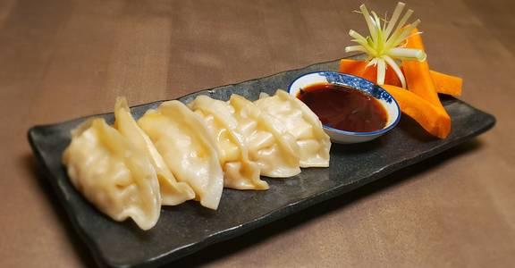 Pork Dumplings (6 Pcs Steamed) from Chopsey - Pan Asian Kitchen in Philadelphia, PA