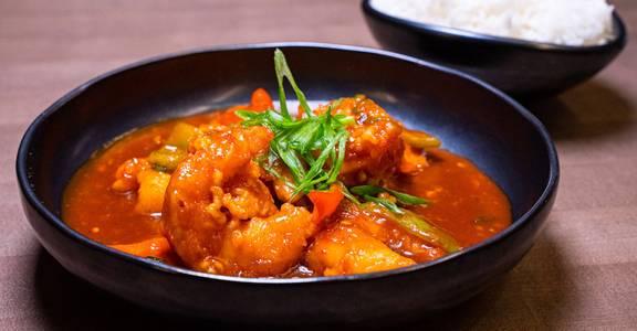 Shrimp in Szechwan Sauce from Chopsey - Pan Asian Kitchen in Philadelphia, PA