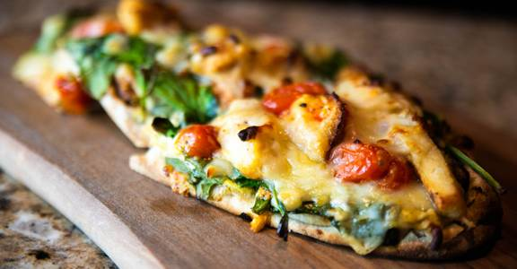 Artichoke and Spinach Flatbread from CIRC in Madison, WI